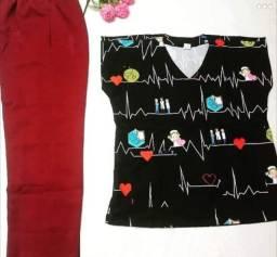 Pijamas hospitalar varias stampas e lisos