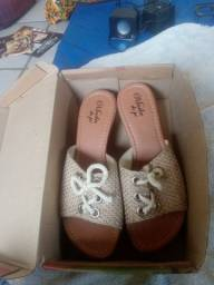 Sandália moda do pé