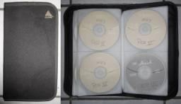Case (pasta) Clone contendo 45 CDs (MP3) de diversos gêneros musicais