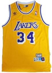 Camisa Lakers Amarela Hardwood Classics 34