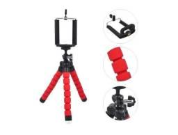 (NOVO)Tripé Flexível Universal Suporte Celular Câmera 25cm Mb84206