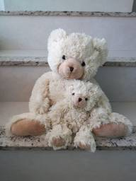 Urso com filhote pelúcia