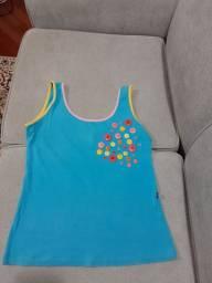 Camiseta regata azul, tamanho M