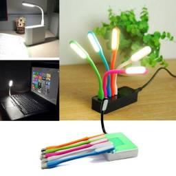 Mini USB Lanterna Luz de Flexível Brilhante