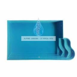 JA Piscina de fibra Alpino - 4,80 x 2,70 x 1,00m