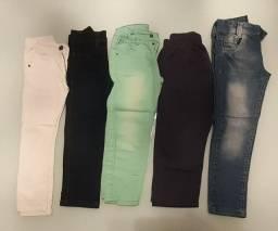 5 calças menino tamanho 4 e 6