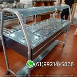 Self-Service 10 Cubas Quentes Estufa Carrinho Térmico iBet