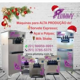 Máquina para Sorvete Expresso, Açaí, Cupuaçu, Polpas e Milk Shake