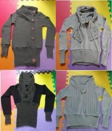 Casaco Blusa de lã, Tricô, Gola alta