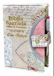 Biblia com harpa e letra grande com opção para caneta