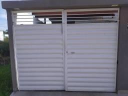 Portão pivotante 2 bandas automatizado
