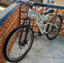 Título do anúncio: <br>Bicicleta Aro 26 21v Dupla Susp Elleven Raptor (disco)