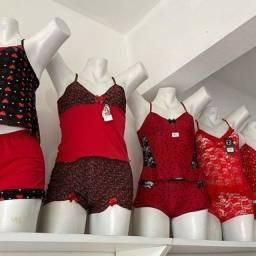 Baby Doll e camisolas e Short samba canção adulto e infantil.