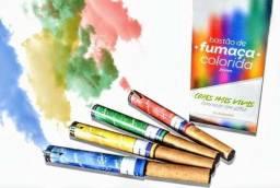 Título do anúncio: fumaça colorida chá revelação rosa azul vermelho