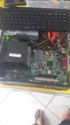 Vendo CPU DEEL DUAL CORE processador 775.DDR 3  4gb memória HD 500GB  novo