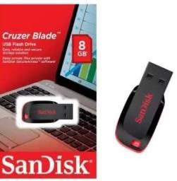 Pen drive 8gb Sandisk Cruzer Blade USB 2.0<br><br><br><br>