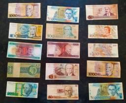 15 cédulas de Cruzeiro- novo lote