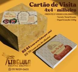Título do anúncio: Cartão de Visita Colorido Frente e Verso Couchê 250g