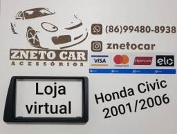 Moldura 2 din multimídia Honda Civic 01/06