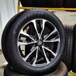 Rodas aro 16(corola)+4 pneus 205/55 zerados!(2.950$ até 10x sem juros no cartão)