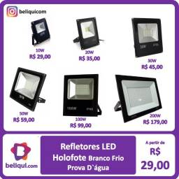 Título do anúncio: Refletores LED Holofotes IP66 | Branco Frio | Diversas Potências