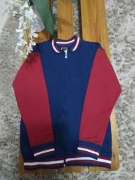 Blusa de moletom com zíper e flagelada - Sem uso