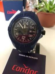 Relógio ESPORTIVO Condor Extra Grande 52mm.  Azul ou Cinza NOVO