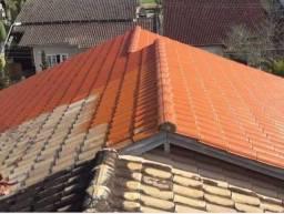 Resina em telhados e pintura em galpoes