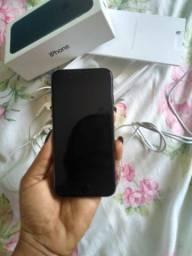 IPhone 7 preto fosco completo aceito cartão