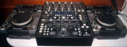 Par De Cdj 400 Pioneer + Mixer Behringer Ddm-4000 DJ