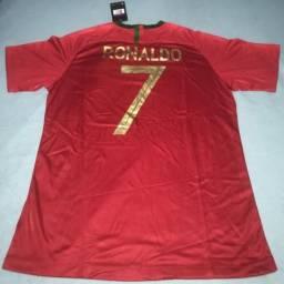 72dc218a2 Camiseta Seleção Portugal Home 2018 - número 7 Ronaldo - Torcedor Nike  Masculina - Nova