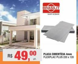 Placa de Cimento ( Tapume ) 1,20 x 2,20 4mm Brasilit