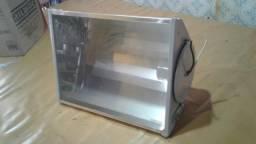 Refletor Quadrado Lampada Soquete E27 Rilumi 200w Gr