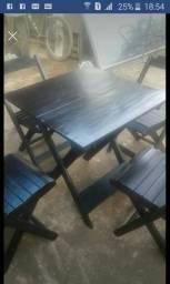 Mesas e cadeiras dobráveis aceito encomendas