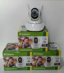 Câmera IP Wifi HD com 2 Antenas para Acesso Remoto via Celular