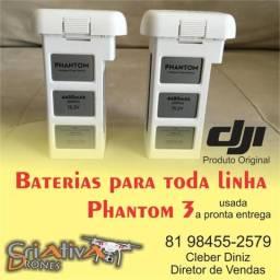 Baterias Para toda linha de Drones PHANTOM original DJI