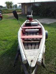 Canoa de 4m com motor 5.5 - 2017