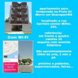 Apartamento para temporada na Praia do Morro em Guarapari