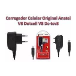 Carregador V8 Anatel Dotcell Celular Original Micro Biv Usb