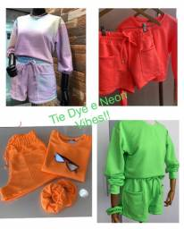 Conjunto comfy - Tie Dye e Neon