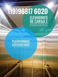 Elevadores de carga, passageiros e acessibilidade