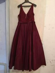 Vestido de Festa Vermelho Marsala