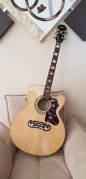 Usado, Violão Jumbo Epiphone Ej200 (Ñ Takamine, Yamaha, Taylor) comprar usado  Curitiba