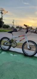 Bicicleta Cross Aro 20 Branca Gelo