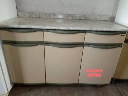 Balcao aço p/ cozinha bege. 1,20 x 0,50 x 0,85 A