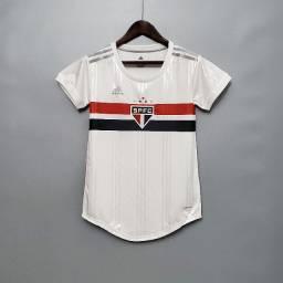 Camisa Feminina São Paulo Home 20/2021