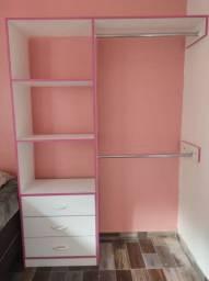 Mini closet com 3 gavetas 100% mdf