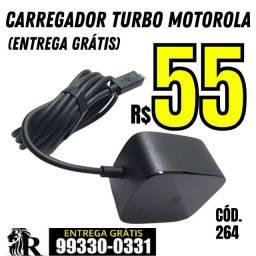 Carregador Turbo Motorola (entrega grátis)