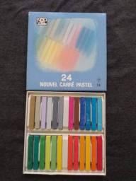 Caixa de Giz de Cor Profissional Nouvel Carré Pastel 24 Cores