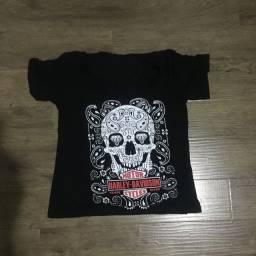 T-shirt, em malha, algodão, estampa caveira